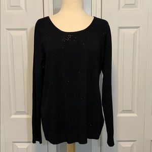 NWT Cable & Gauge sparkly beaded black sweater